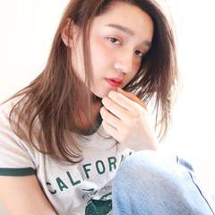 かき上げ前髪 ストリート 前髪あり 透明感 ヘアスタイルや髪型の写真・画像