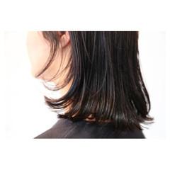 暗髪 イルミナカラー ボブ 大人女子 ヘアスタイルや髪型の写真・画像