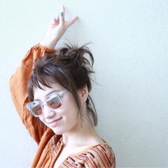 ガーリー アッシュベージュ ボブ フェス ヘアスタイルや髪型の写真・画像