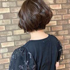 ボブ ナチュラル 透明感 夏 ヘアスタイルや髪型の写真・画像