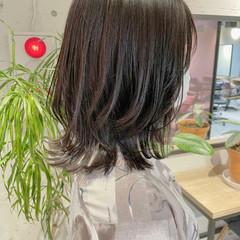 鎖骨ミディアム 透明感カラー 大人ミディアム くびれボブ ヘアスタイルや髪型の写真・画像
