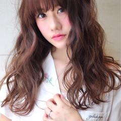 ロング ピンク 秋 外国人風カラー ヘアスタイルや髪型の写真・画像