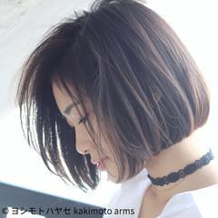 大人女子 モード 小顔 アッシュ ヘアスタイルや髪型の写真・画像