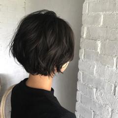 大人女子 ナチュラル 秋 ショート ヘアスタイルや髪型の写真・画像