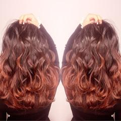 ガーリー 外国人風 ハイライト パーマ ヘアスタイルや髪型の写真・画像