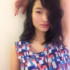 ガーリー 大人かわいい ゆるふわ ミディアム ヘアスタイルや髪型の写真・画像