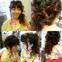 フェミニン ガーリー ロング ヘアアレンジ ヘアスタイルや髪型の写真・画像