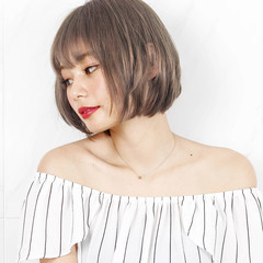 外国人風カラー ショートボブ ミニボブ ショートヘア ヘアスタイルや髪型の写真・画像