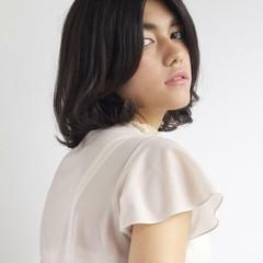 ショートボブ ナチュラル フェミニン 透明感 ヘアスタイルや髪型の写真・画像