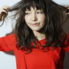 フェミニン ゆるふわ 外国人風 セミロング ヘアスタイルや髪型の写真・画像
