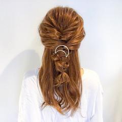 デート 結婚式 簡単ヘアアレンジ フェミニン ヘアスタイルや髪型の写真・画像