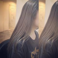 ハイライト セミロング 外国人風 グラデーションカラー ヘアスタイルや髪型の写真・画像
