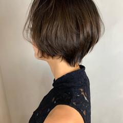 ショートヘア 丸みショート ナチュラル ショート ヘアスタイルや髪型の写真・画像