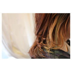 ハイトーン モード ミディアム 大人女子 ヘアスタイルや髪型の写真・画像