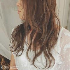 ロング エレガント 外国人風 ハイライト ヘアスタイルや髪型の写真・画像