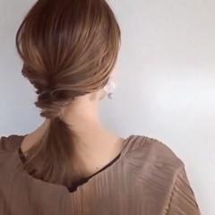 大人ミディアム ヘアアレンジ ミディアム ナチュラル ヘアスタイルや髪型の写真・画像
