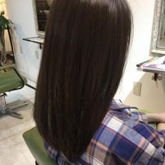 セミロング ハイライト アッシュベージュ グラデーションカラー ヘアスタイルや髪型の写真・画像