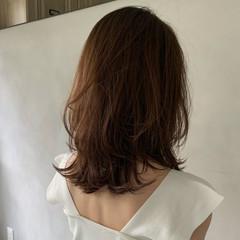 前髪あり こなれ感 ミディアム ミディアムレイヤー ヘアスタイルや髪型の写真・画像