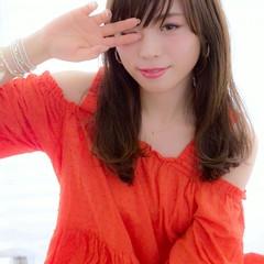 外国人風 ふわふわ セミロング 大人かわいい ヘアスタイルや髪型の写真・画像
