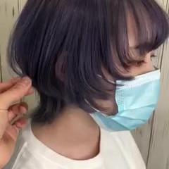 トレンド ウルフカット ショートヘア マッシュウルフ ヘアスタイルや髪型の写真・画像
