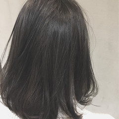 暗髪 アッシュ グラデーションカラー ハイライト ヘアスタイルや髪型の写真・画像