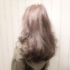 ロング ニュアンス アッシュ 透明感 ヘアスタイルや髪型の写真・画像