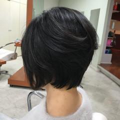 黒髪 エレガント ショート 30代 ヘアスタイルや髪型の写真・画像