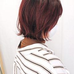 ストリート ミニボブ グラデーションカラー インナーカラー ヘアスタイルや髪型の写真・画像