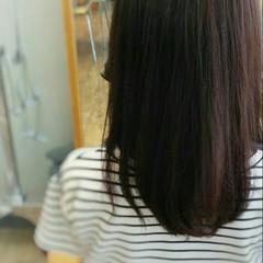 フェミニン セミロング 暗髪 大人かわいい ヘアスタイルや髪型の写真・画像