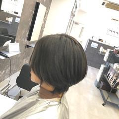 ショートボブ コンサバ ショート ハンサムショート ヘアスタイルや髪型の写真・画像