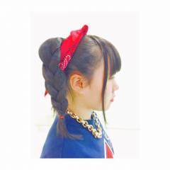 ヘアアレンジ 三つ編み ストリート セミロング ヘアスタイルや髪型の写真・画像