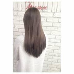 ラベンダーアッシュ パープル ナチュラル ロング ヘアスタイルや髪型の写真・画像
