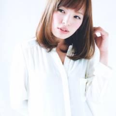 コンサバ ミディアム 大人かわいい モテ髪 ヘアスタイルや髪型の写真・画像