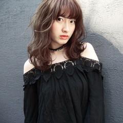 前髪あり モード シースルーバング 透明感 ヘアスタイルや髪型の写真・画像