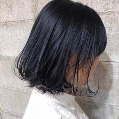 ボブ ナチュラル ダブルカラー ウェーブ ヘアスタイルや髪型の写真・画像