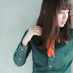 抜け感 大人女子 セミロング かっこいい ヘアスタイルや髪型の写真・画像
