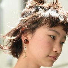 ヘアアレンジ ナチュラル ボブ 女子会 ヘアスタイルや髪型の写真・画像