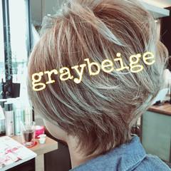 アッシュ グレージュ 外国人風カラー ストリート ヘアスタイルや髪型の写真・画像