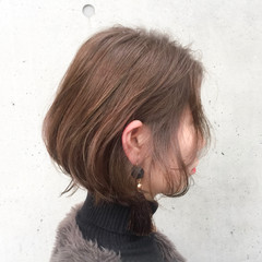 ショート ナチュラル 冬 デート ヘアスタイルや髪型の写真・画像