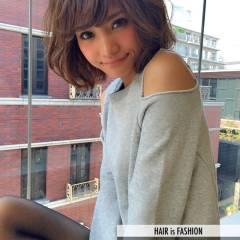 愛され ボブ モテ髪 渋谷系 ヘアスタイルや髪型の写真・画像