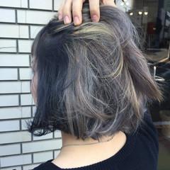 暗髪 外ハネ モード ボブ ヘアスタイルや髪型の写真・画像