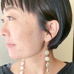 ミニボブ ショート 切りっぱなしボブ 切りっぱなし ヘアスタイルや髪型の写真・画像