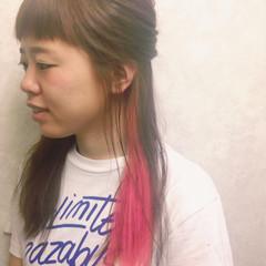 ゆるふわ ピンク ストリート 簡単ヘアアレンジ ヘアスタイルや髪型の写真・画像
