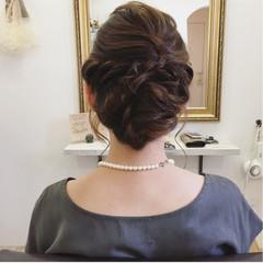 ヘアアレンジ 結婚式 大人かわいい ゆるふわ ヘアスタイルや髪型の写真・画像