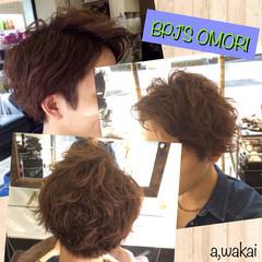 モテ髪 前髪なし パーマ ショート ヘアスタイルや髪型の写真・画像