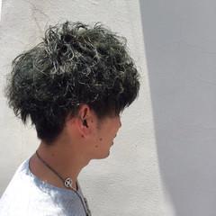 ボーイッシュ ショート マット アッシュ ヘアスタイルや髪型の写真・画像