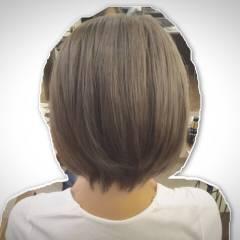 アッシュ ショート 外国人風 ハイトーン ヘアスタイルや髪型の写真・画像