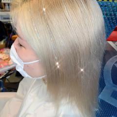 エクステ 特殊カラー ガーリー 派手髪 ヘアスタイルや髪型の写真・画像