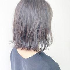 ナチュラル ミディアム 前髪 透明感カラー ヘアスタイルや髪型の写真・画像