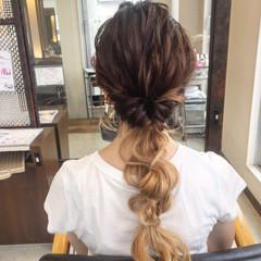 グラデーションカラー くせ毛風 ヘアアレンジ ショート ヘアスタイルや髪型の写真・画像